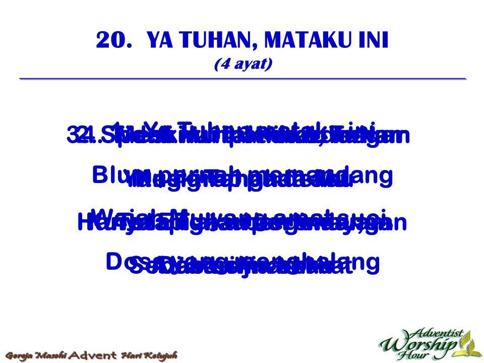 21.SUCI, SUCI, SUCI (3 ayat) 1.