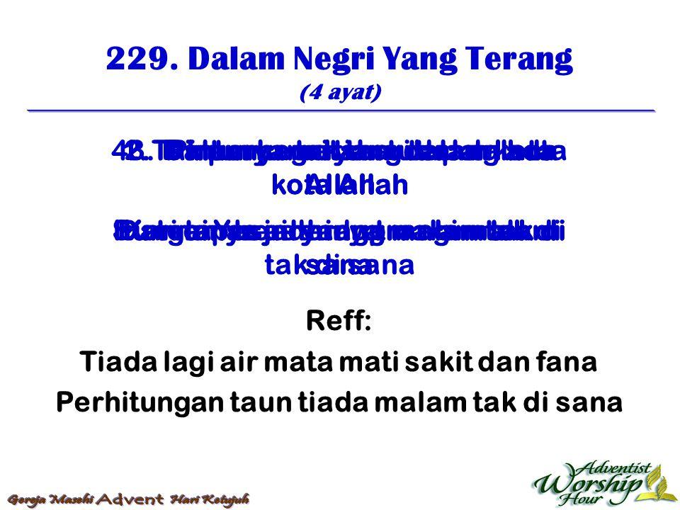 230.Dalam Negri Rumah Bapa (4 ayat) 1.
