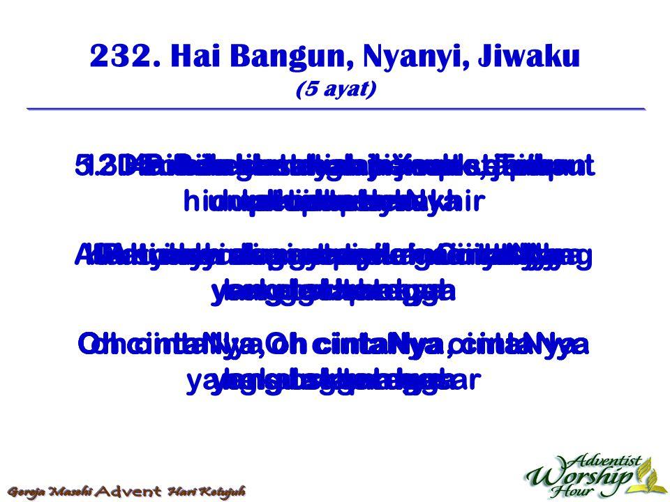 233.Hai Betlehem Yang Senyap (4 ayat) 1.