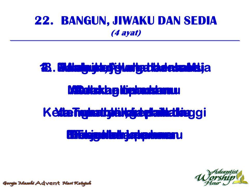 23.BETAPA INDAH RUMAH-MU (3 ayat) 1.