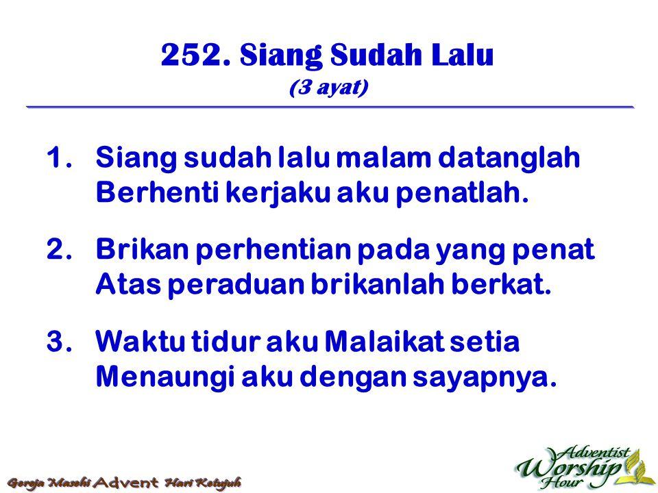 253.Hmpirlah Malam (4 ayat) 1.
