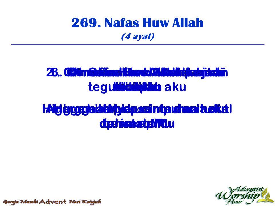270.Sembilan Puluh Sembilan (4 ayat) 1.