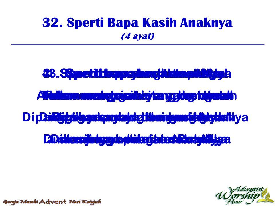 33.Hai Pujilah Nama Yesus (4 ayat) 1.