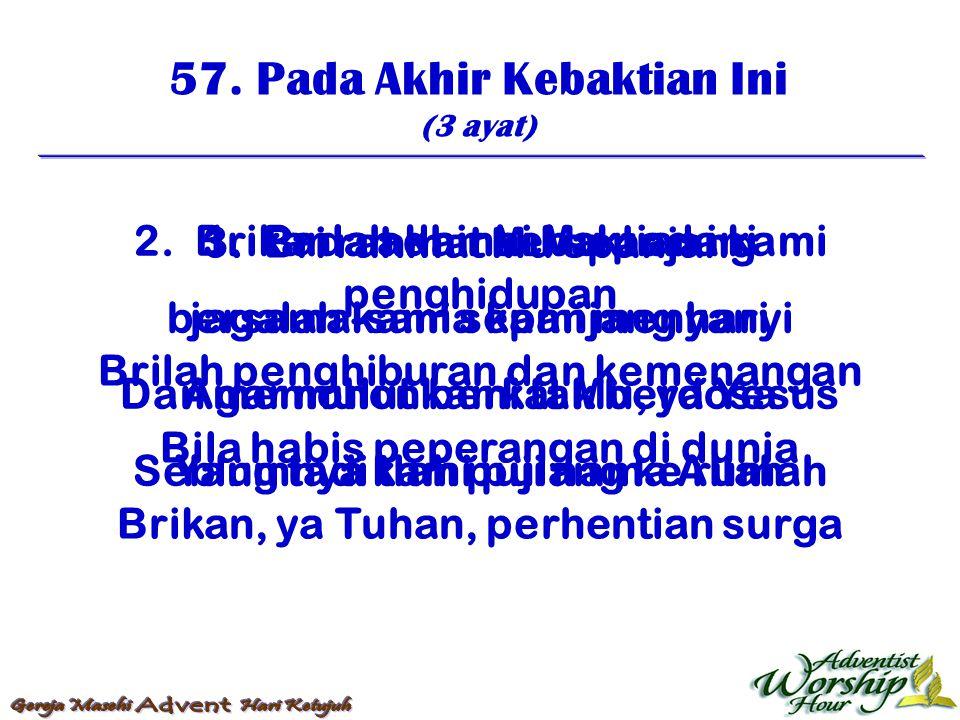 58.Ya Allah, Berkati Kami (2 ayat) 1.