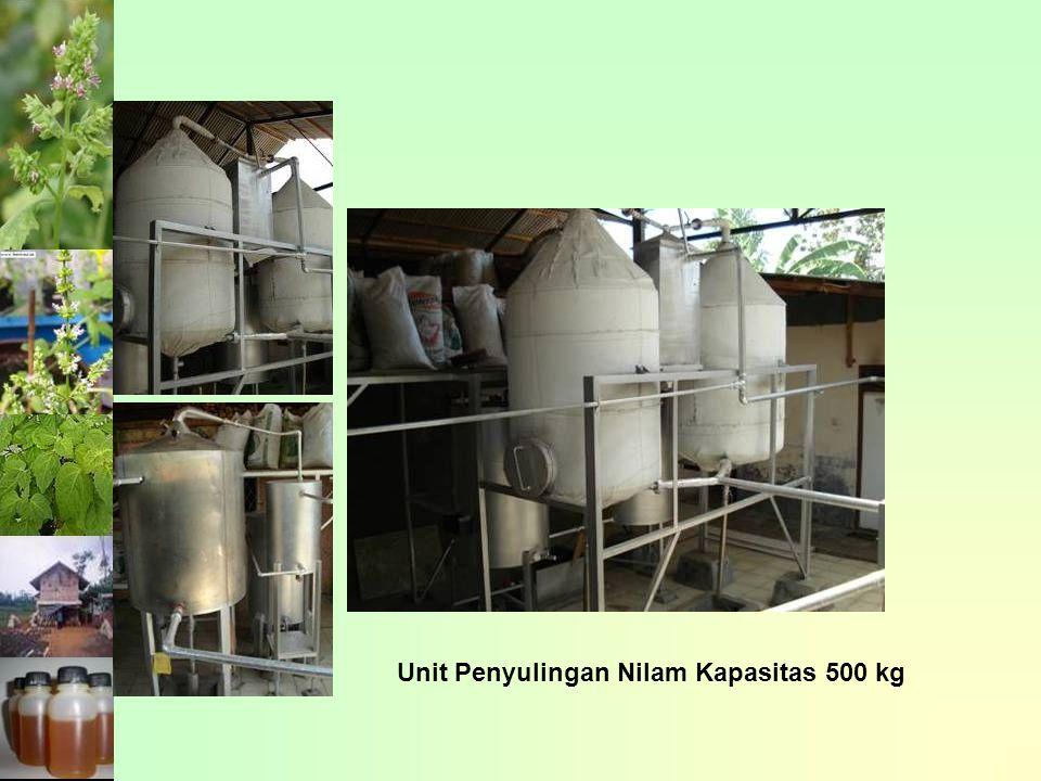 Unit Penyulingan Nilam Kapasitas 500 kg