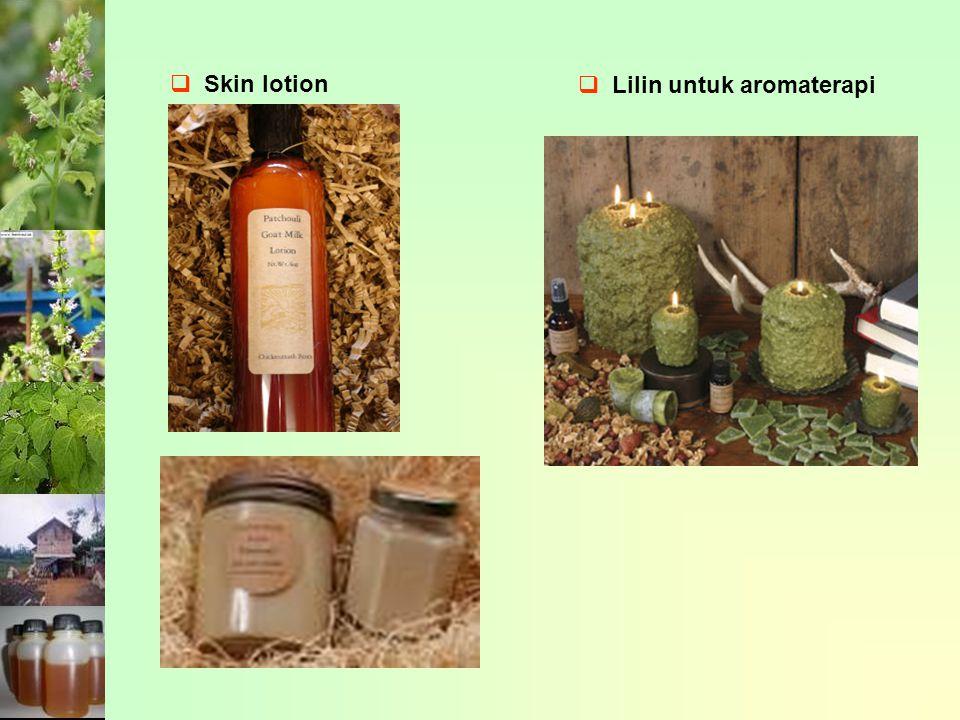  Skin lotion  Lilin untuk aromaterapi