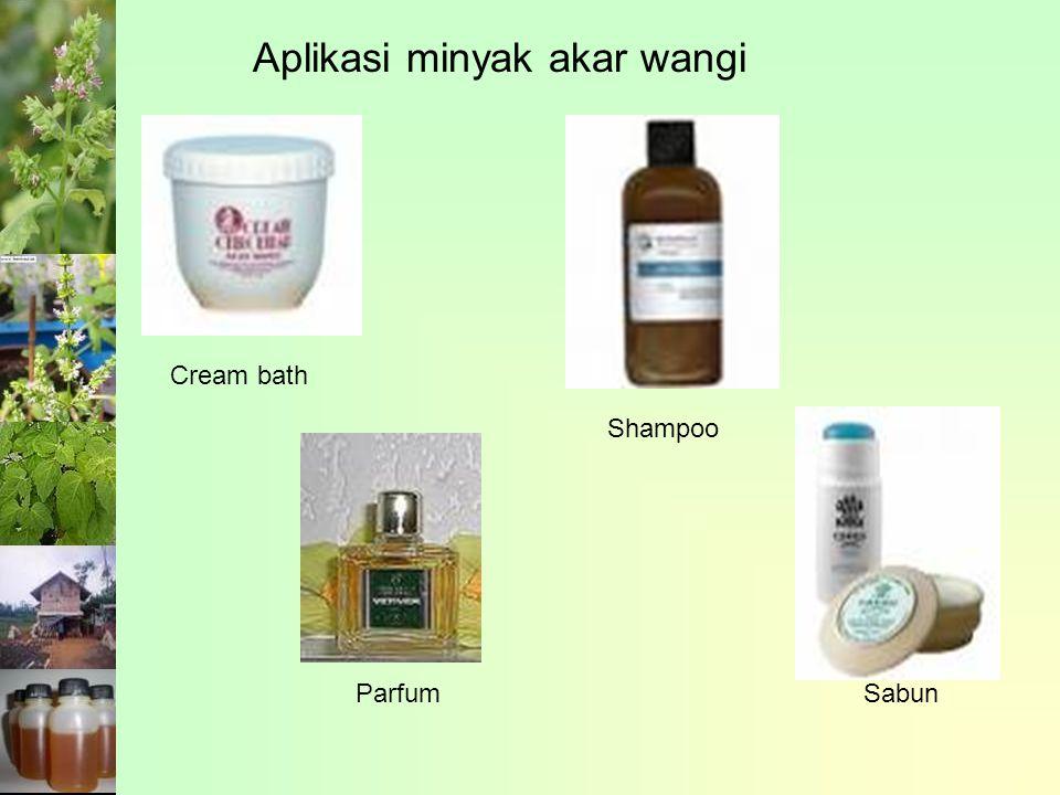 Aplikasi minyak akar wangi Cream bath Parfum Shampoo Sabun