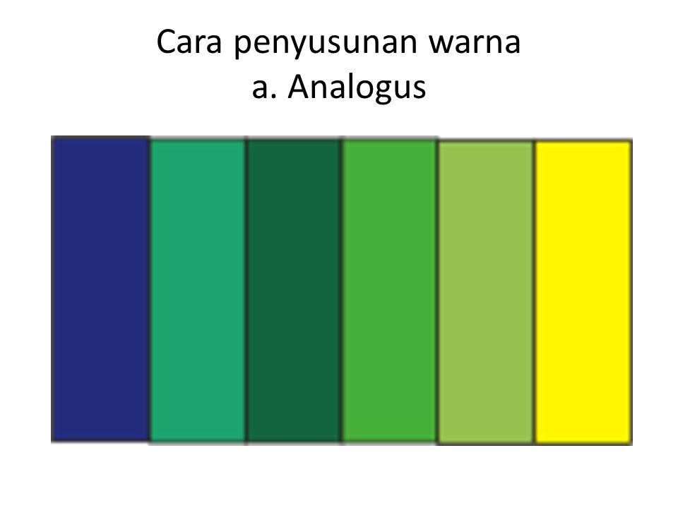 Cara penyusunan warna a. Analogus