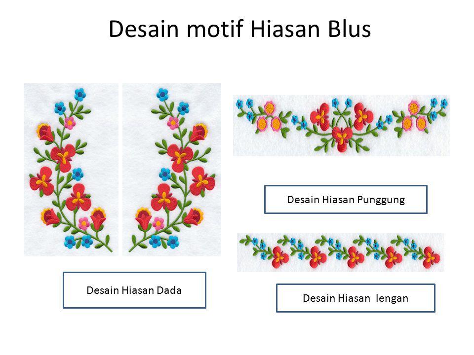 Desain motif Hiasan Blus Desain Hiasan lengan Desain Hiasan Punggung Desain Hiasan Dada