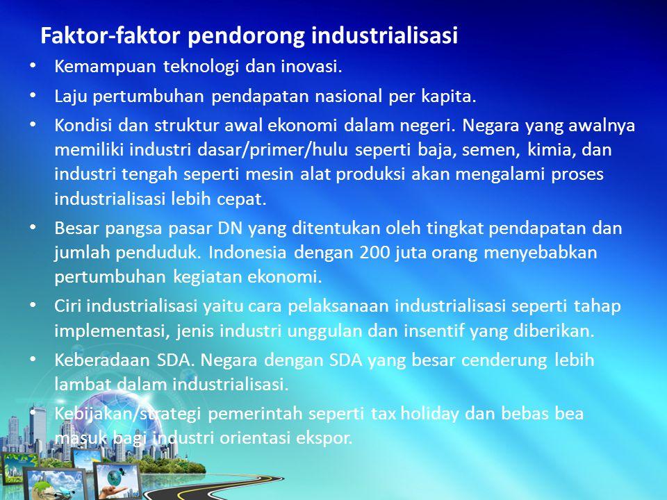 Kemampuan teknologi dan inovasi.Laju pertumbuhan pendapatan nasional per kapita.