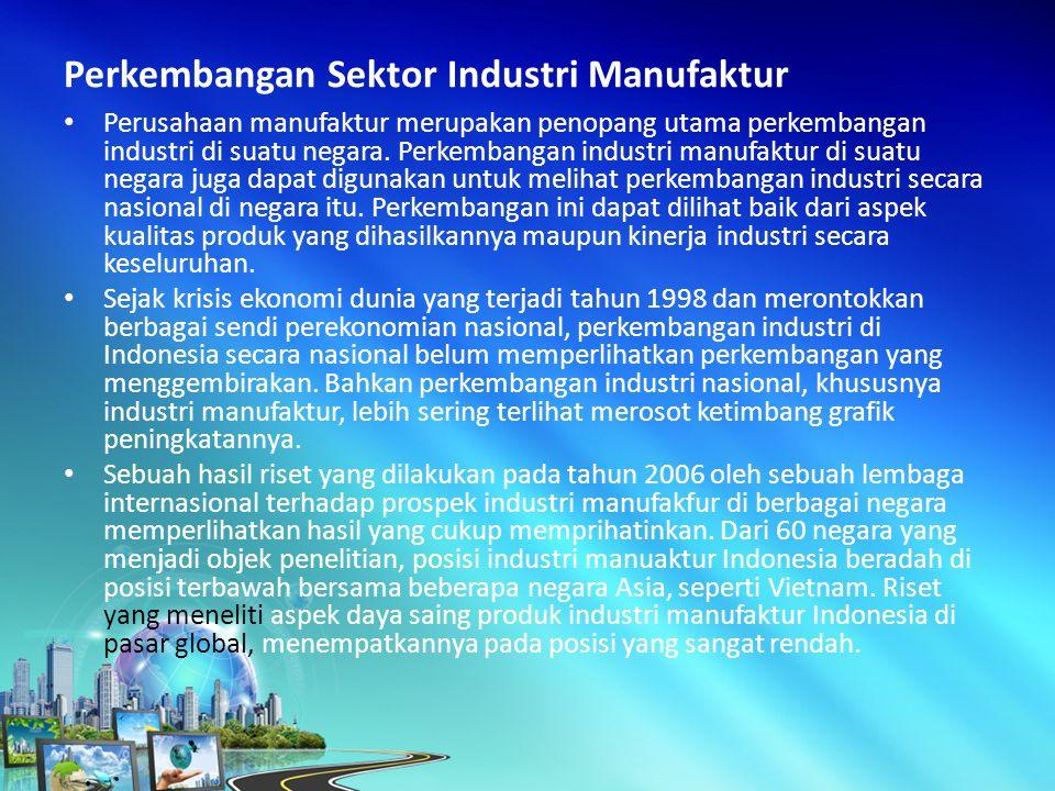 Perusahaan manufaktur merupakan penopang utama perkembangan industri di suatu negara.