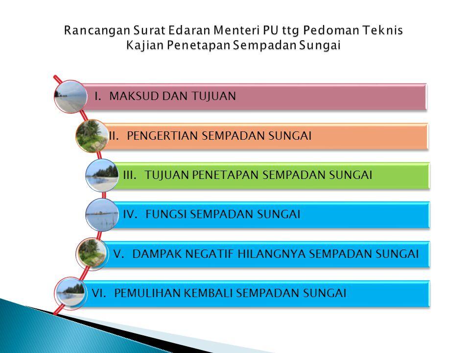 I.MAKSUD DAN TUJUAN II. PENGERTIAN SEMPADAN SUNGAI III.