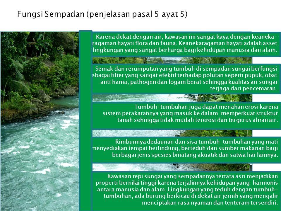 Karena dekat dengan air, kawasan ini sangat kaya dengan keaneka- ragaman hayati flora dan fauna. Keanekaragaman hayati adalah asset lingkungan yang sa