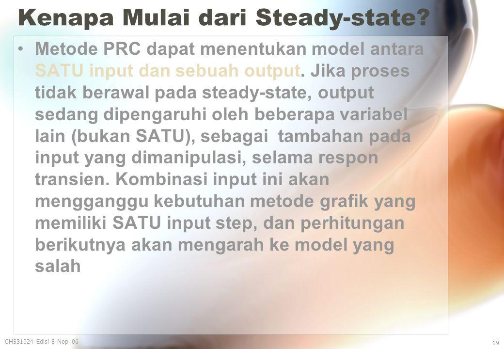 Kenapa Mulai dari Steady-state.