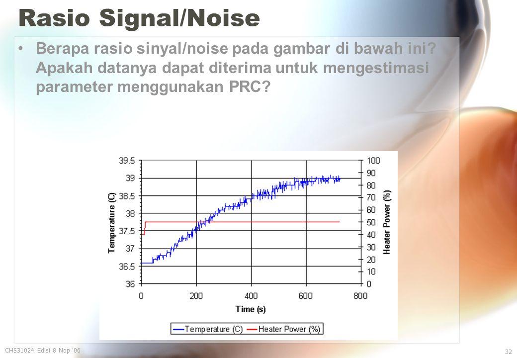 Rasio Signal/Noise Berapa rasio sinyal/noise pada gambar di bawah ini.