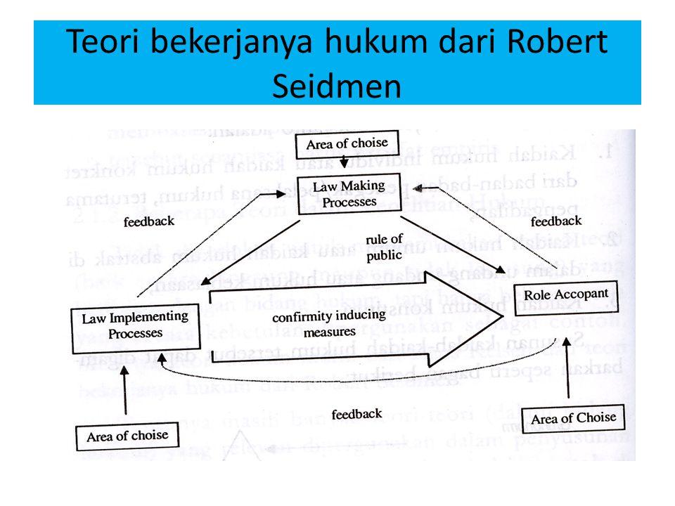 Teori bekerjanya hukum dari Robert Seidmen