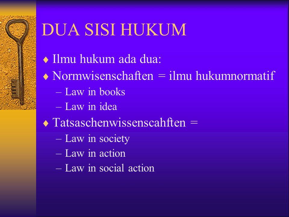  Tatsaschenwissenshcaften: –Sosiologi hukum –Antropologi hukum –Kriminlogi –Perbandingan hukum –Pshikologi hukum –Sejarah hukum –Politik hukum