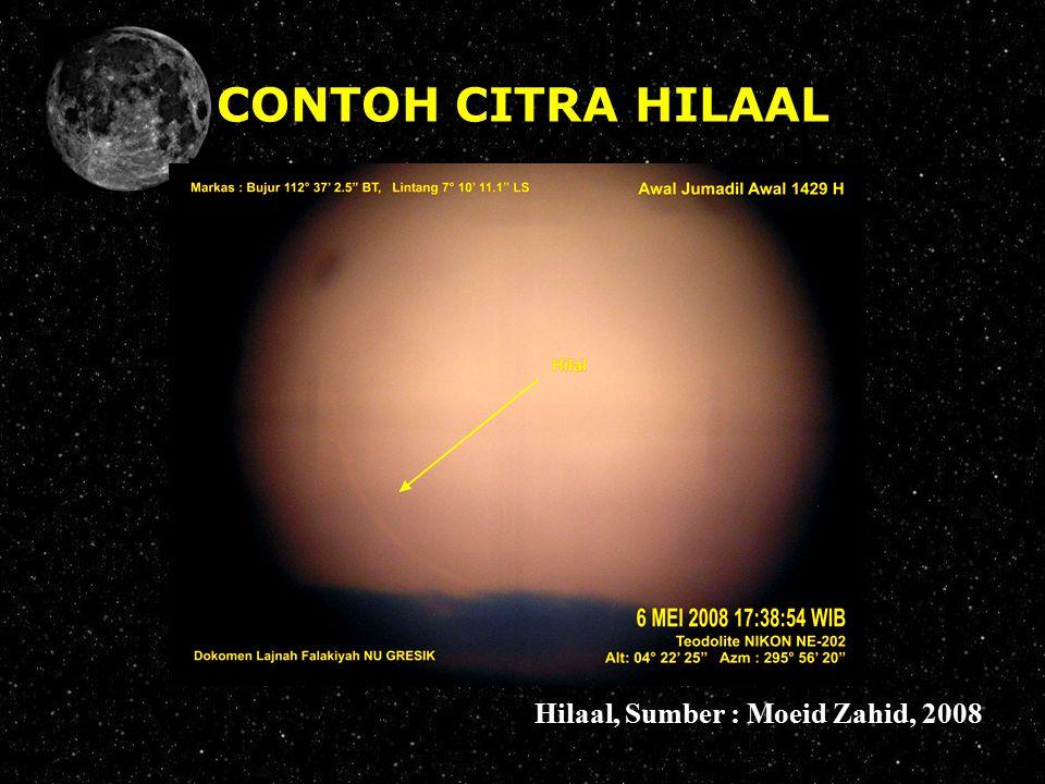 CONTOH CITRA HILAAL Hilaal, Sumber : Moeid Zahid, 2008