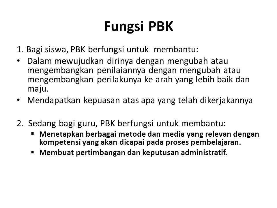 Fungsi PBK 1.