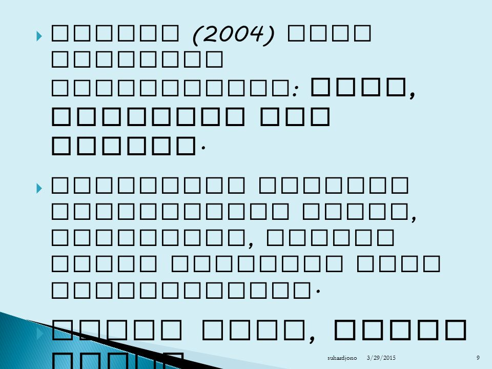  Bekerja secara mandiri  Baca soal di halaman pada halaman 37  Tuliskan jawabannya pada kertas ukuran A4, tuliskan nama, nomor mahasiswa dan kelasnya  Kumpulkan pada pertemuan ke 2 suhardjono 201240