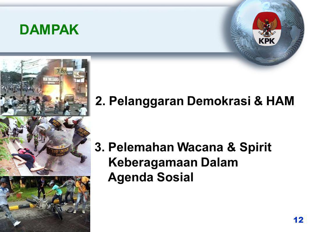 2. Pelanggaran Demokrasi & HAM 3.