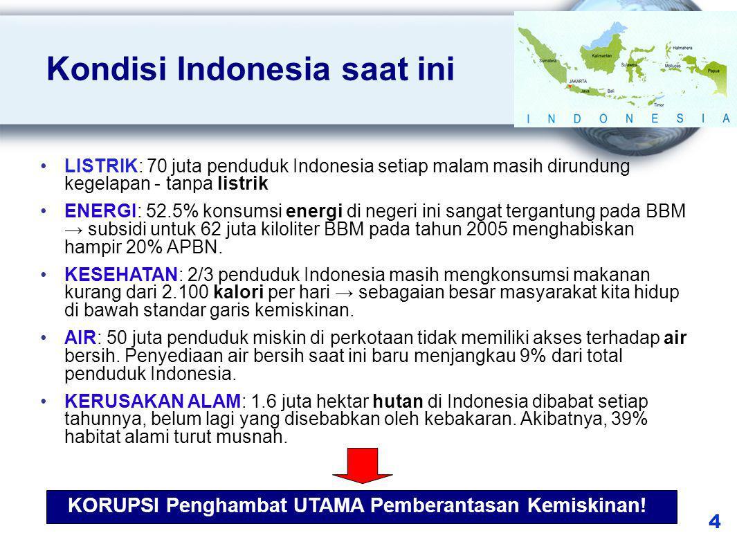 Penanganan Perkara TPK oleh KPK (data terdakwa) 5 *)data per Juni 2011