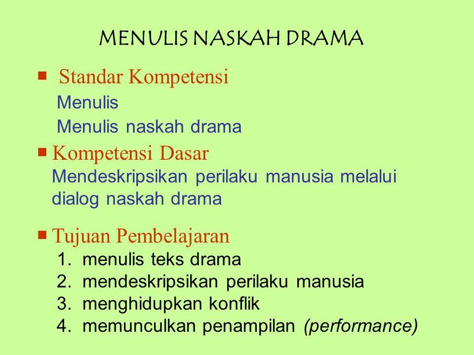 Perhatikan contoh naskah drama berikut.Inu : Tenang, Jati.