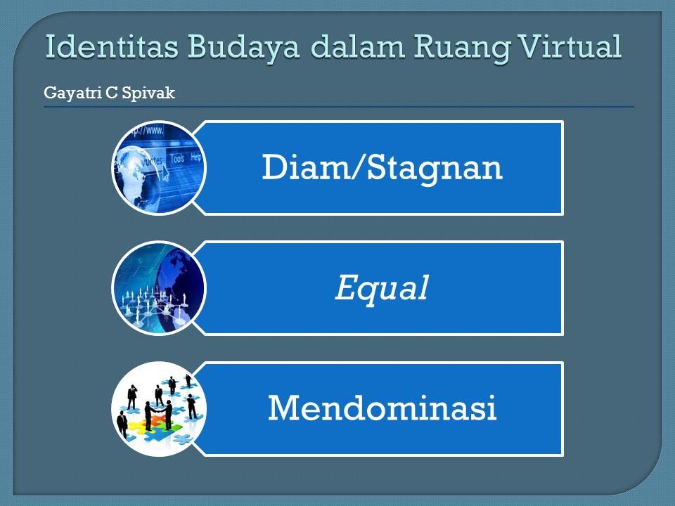 Diam/Stagnan Equal Mendominasi Gayatri C Spivak