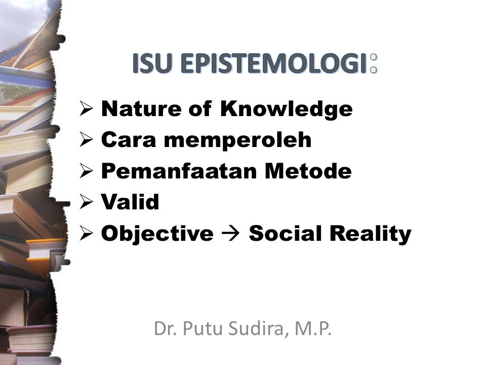 Dr. Putu Sudira, M.P.