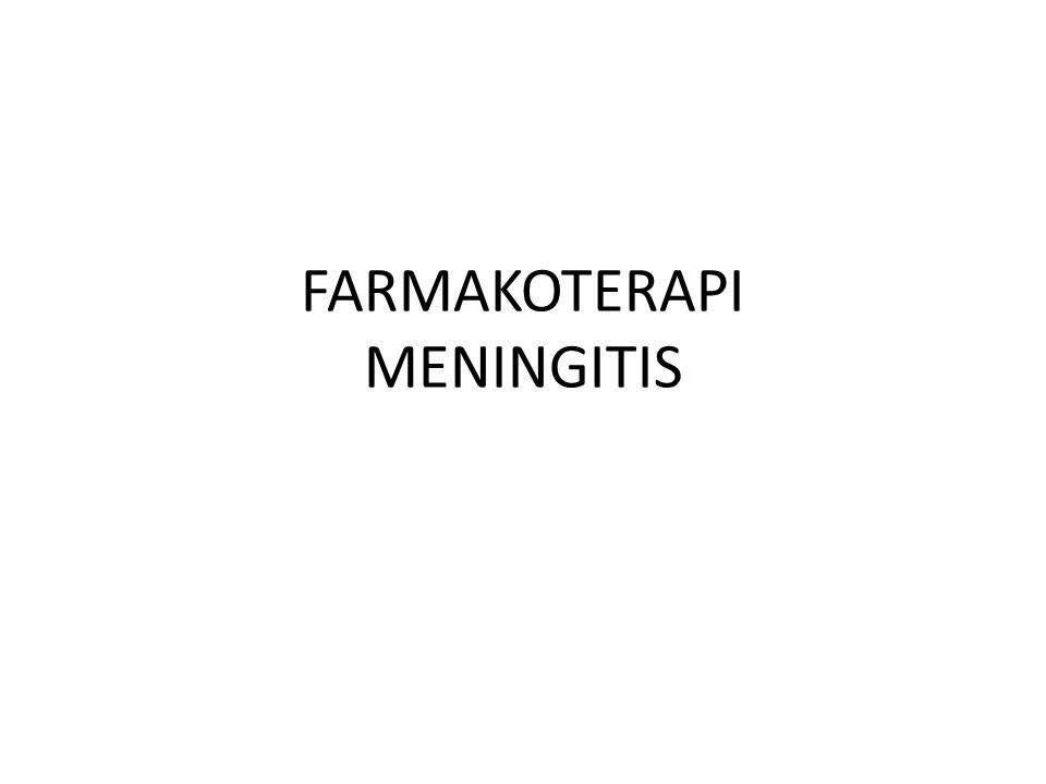 FARMAKOTERAPI MENINGITIS