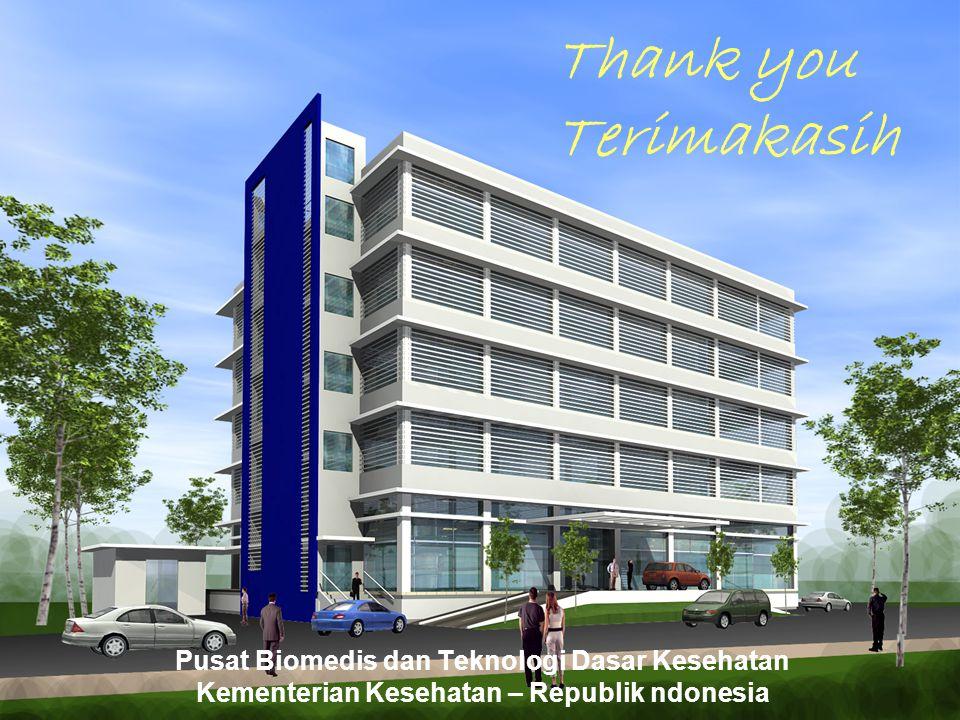 Pusat Biomedis dan Teknologi Dasar Kesehatan Kementerian Kesehatan – Republik ndonesia Thank you Terimakasih