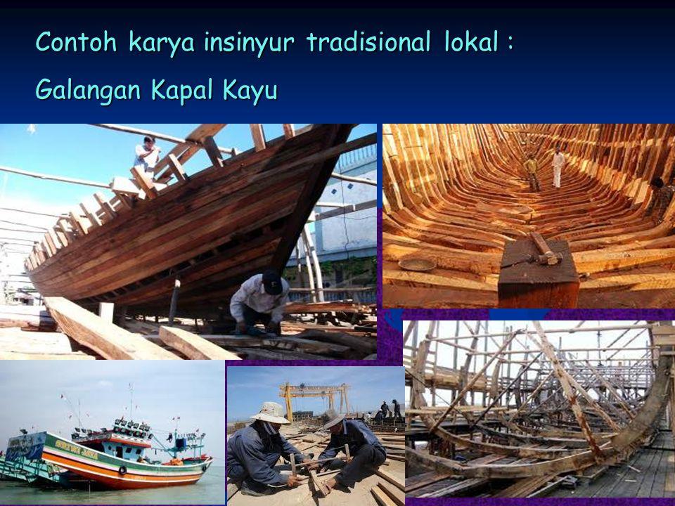 Contoh karya insinyur tradisional lokal : Galangan Kapal Kayu