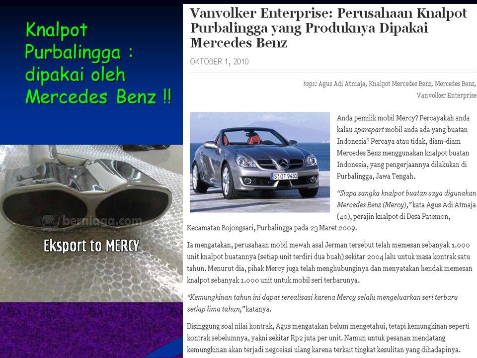 Knalpot Purbalingga : dipakai oleh Mercedes Benz !!