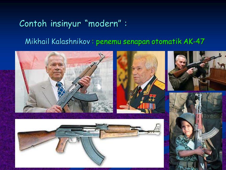"""Contoh insinyur """"modern"""" : Mikhail Kalashnikov : penemu senapan otomatik AK-47"""