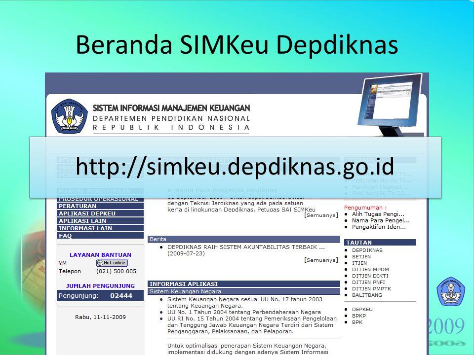 Beranda SIMKeu Depdiknas http://simkeu.depdiknas.go.id