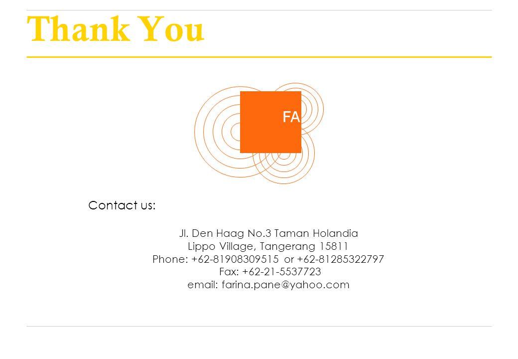 Thank You FA Contact us: Jl.