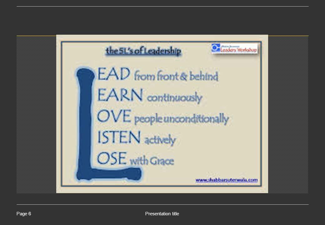 Presentation titlePage 7 Bagaimanakah Sifat dan karakter Pemimpin ideal?