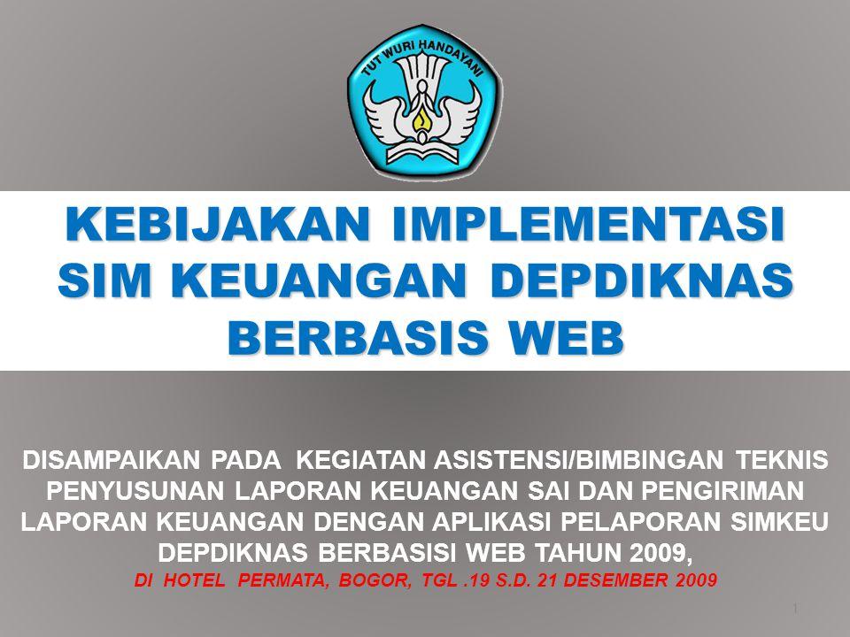 Aplikasi Depkeu Menu Aplikasi Depkeu digunakan untuk mengunduh paket instalasi dan pemutakhiran (update) aplikasi SAI yang dikeluarkan oleh Departemen Keuangan