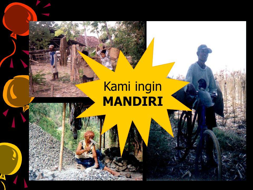 Kami ingin MANDIRI