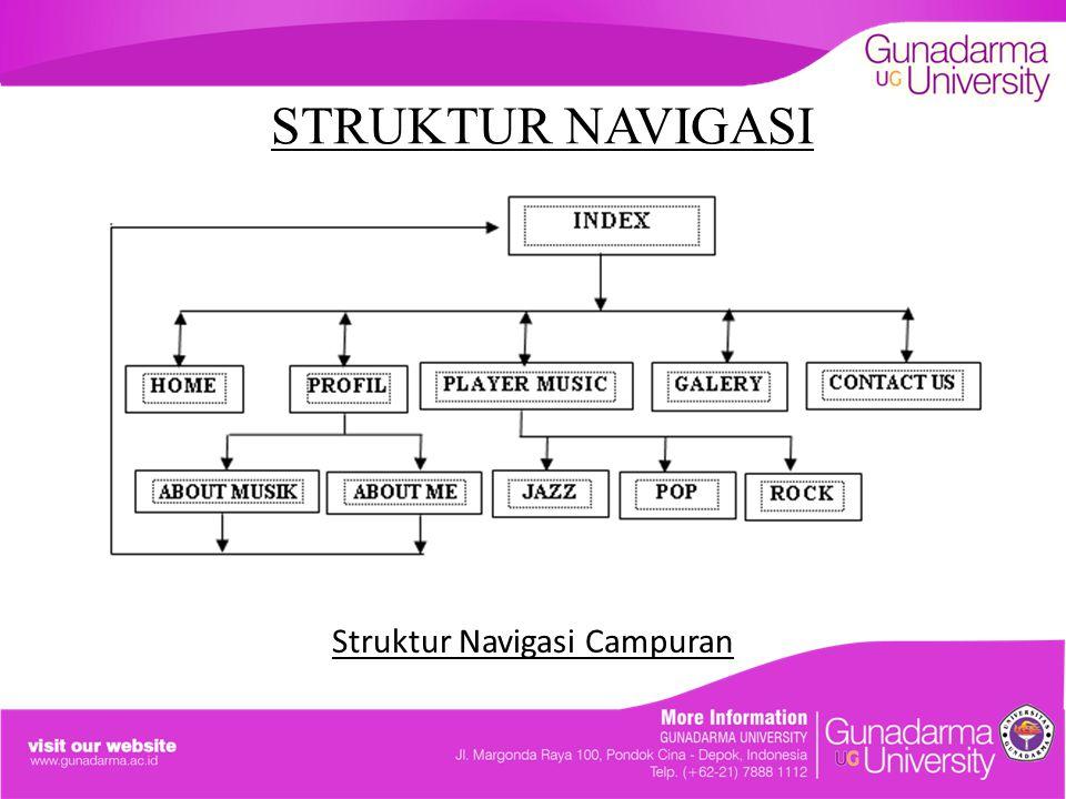 STRUKTUR NAVIGASI Struktur Navigasi Campuran