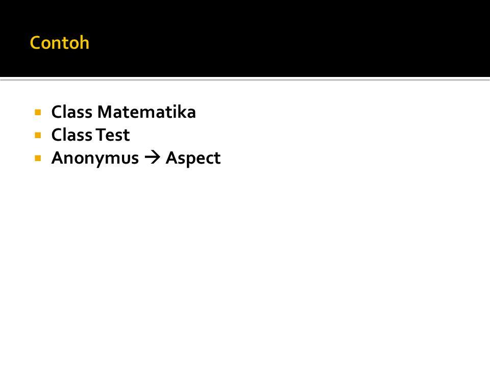  Class Matematika  Class Test  Anonymus  Aspect