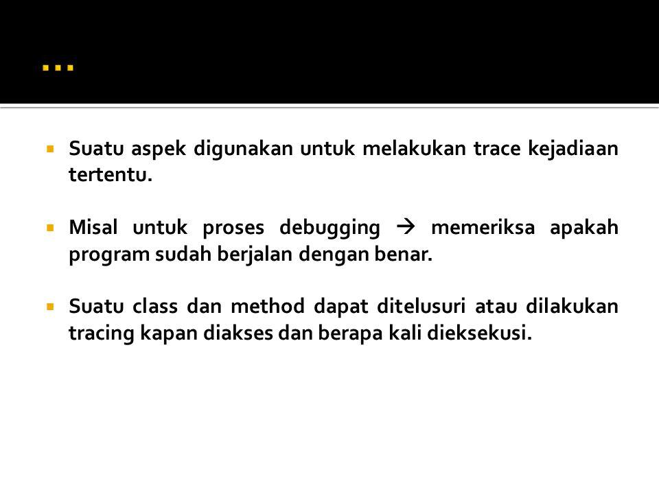 Buat Class sebagai berikut:  Point  Java Class  Line  Java Class  mainLine  Java Class (Main)  SetsInRotateCounting  Aspect