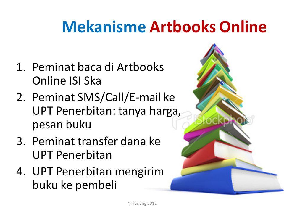 Dihindari di Artbooks Online Tidak ada pemasangan harga Tidak melayani pembayaran online (pay pall) @ ranang 2011
