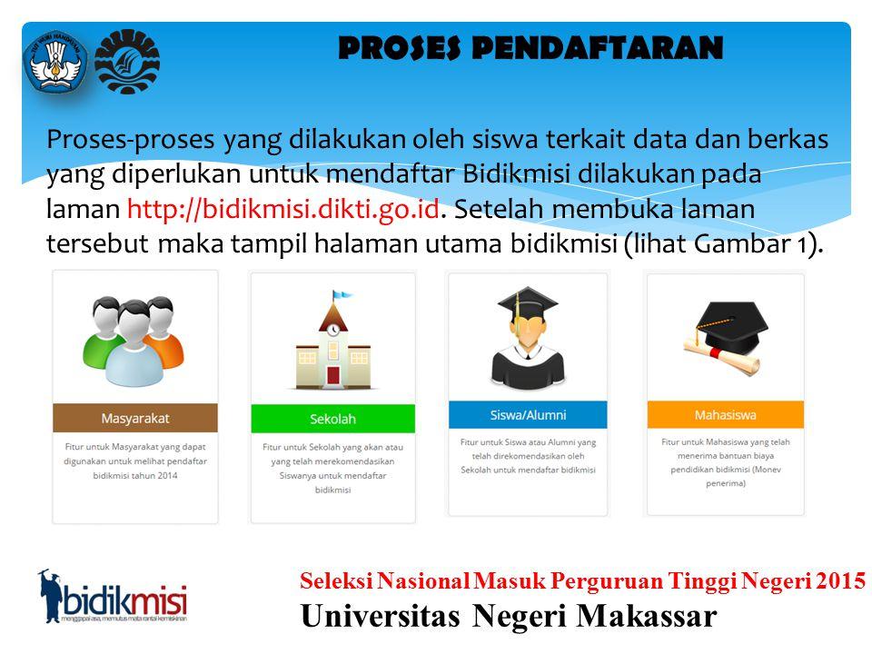 Seleksi Nasional Masuk Perguruan Tinggi Negeri 2015 Universitas Negeri Makassar Untuk masuk ke halaman Rekomendasi siswa, bisa melalui Dashboard denga
