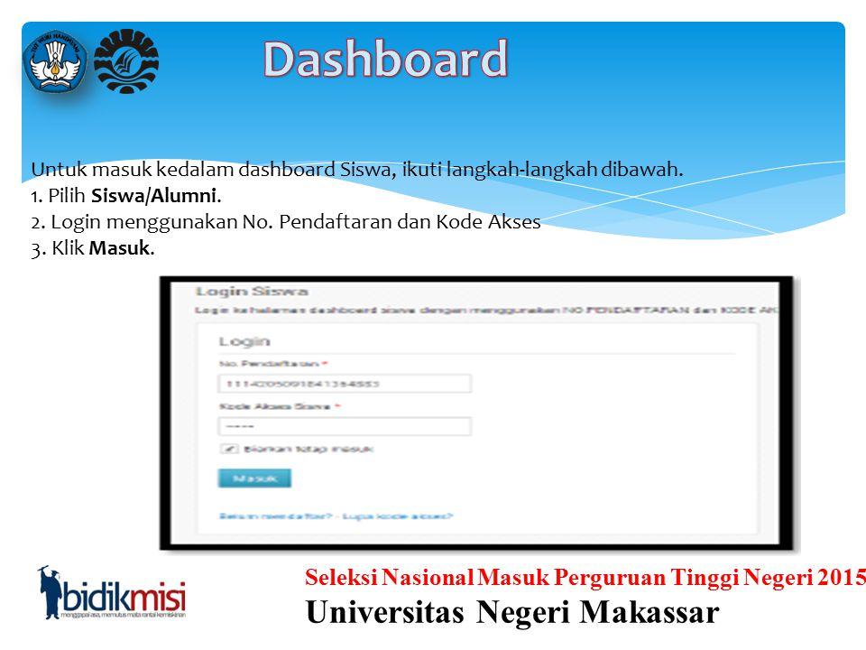 Seleksi Nasional Masuk Perguruan Tinggi Negeri 2015 Universitas Negeri Makassar PROSES PENDAFTARAN Proses-proses yang dilakukan oleh siswa terkait dat
