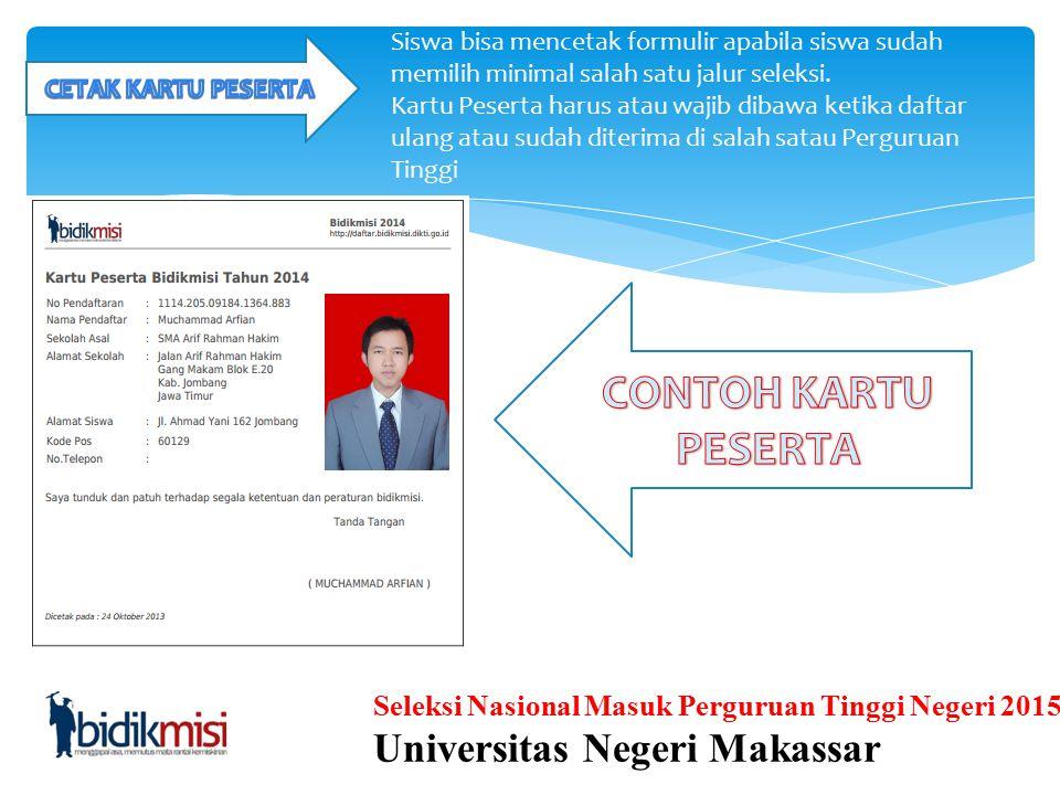 Seleksi Nasional Masuk Perguruan Tinggi Negeri 2015 Universitas Negeri Makassar Pada halaman Form Rencana, terdapat beberapa isian yang perlu diisi si