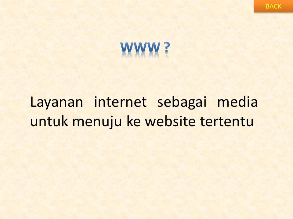 BACK Layanan internet sebagai media untuk menuju ke website tertentu
