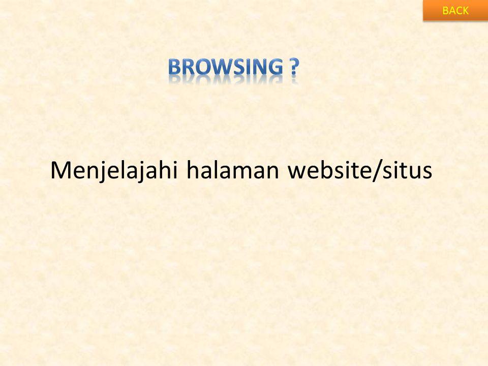 Menjelajahi halaman website/situs