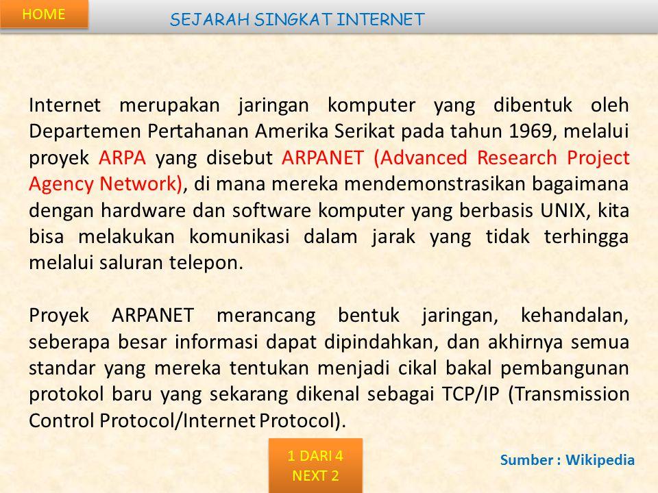 BACK Kepanjangan : Internet Service Provider Adalah penyedia jasa layanan internet.