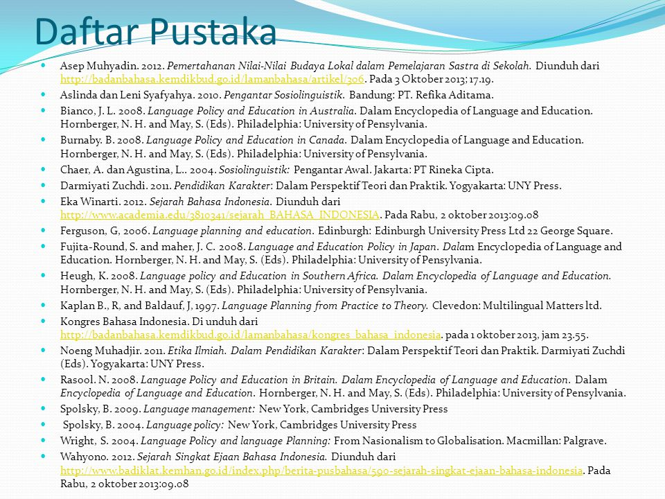 Daftar Pustaka Asep Muhyadin.2012.